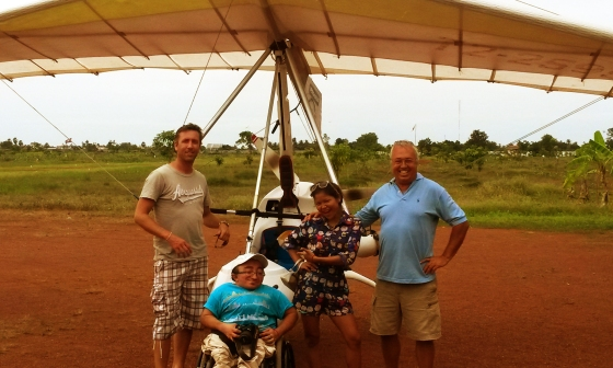 Skot Sanderson, Mitch St.Pierre, Lilly Phy, Eddie Smith - Microlight Siem Reap TV